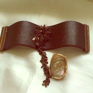 Cynthia desser Paris leather cuff 💗💖❤️💖💗💖❤️